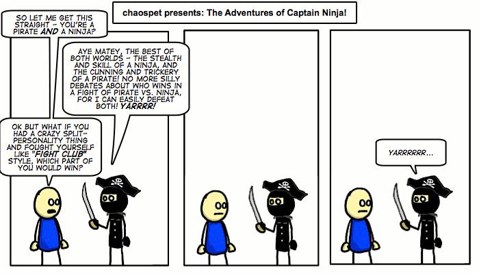#139 Pirate-Ninja vs. Self